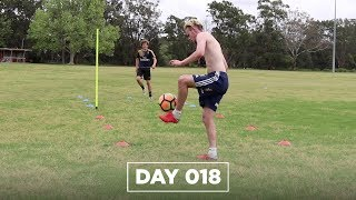 FOOTBALLERS... TRY THIS FITNESS DRILL!!