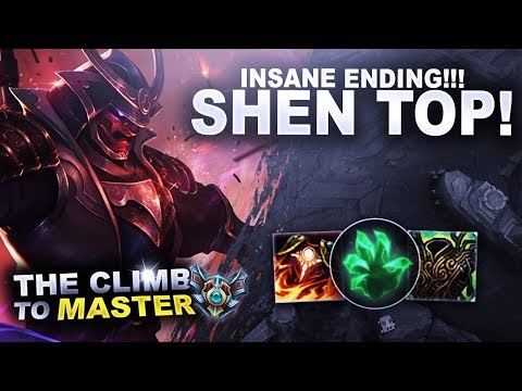 INSANE ENDING, WATCH THIS SHEN GAME! - Climb to Master | League of Legends thumbnail