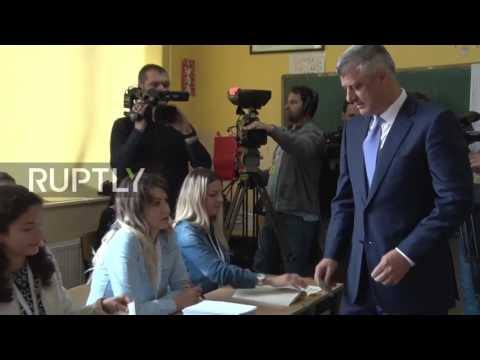 Serbia: Kosovo President Hashim casts ballot in snap parliamentary elections
