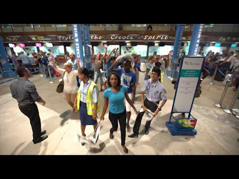Flash Mob  at Seychelles International Airport - Seychelles Civil Aviation Authority Staff
