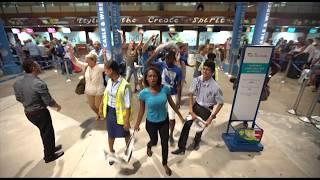 Flash Mob  at Seychelles International Airport - Seychelles Civil Aviation Authority Staff