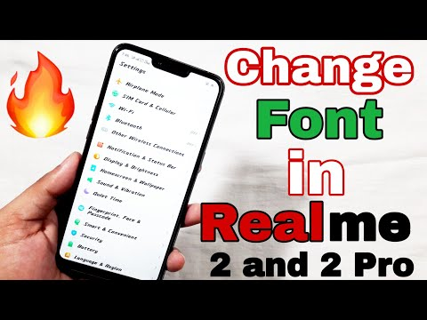 [Hindi] How to change Font Style in Realme 2 or any Realme devices   Change font in Realme 2