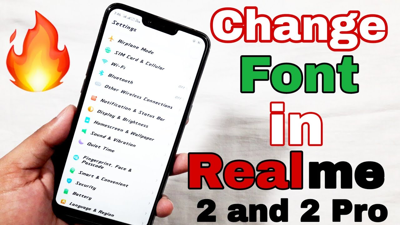 [Hindi] How to change Font Style in Realme 2 or any Realme devices | Change  font in Realme 2