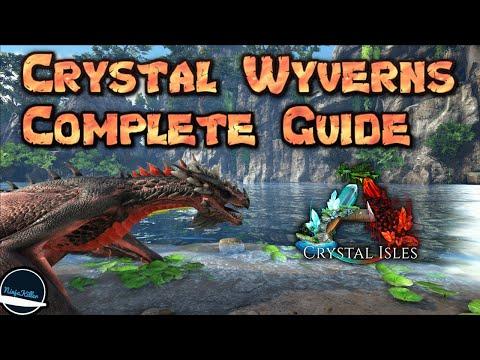 Volledige gids voor Crystal Wyverns op Ark Survival Evolved Crystal Isle