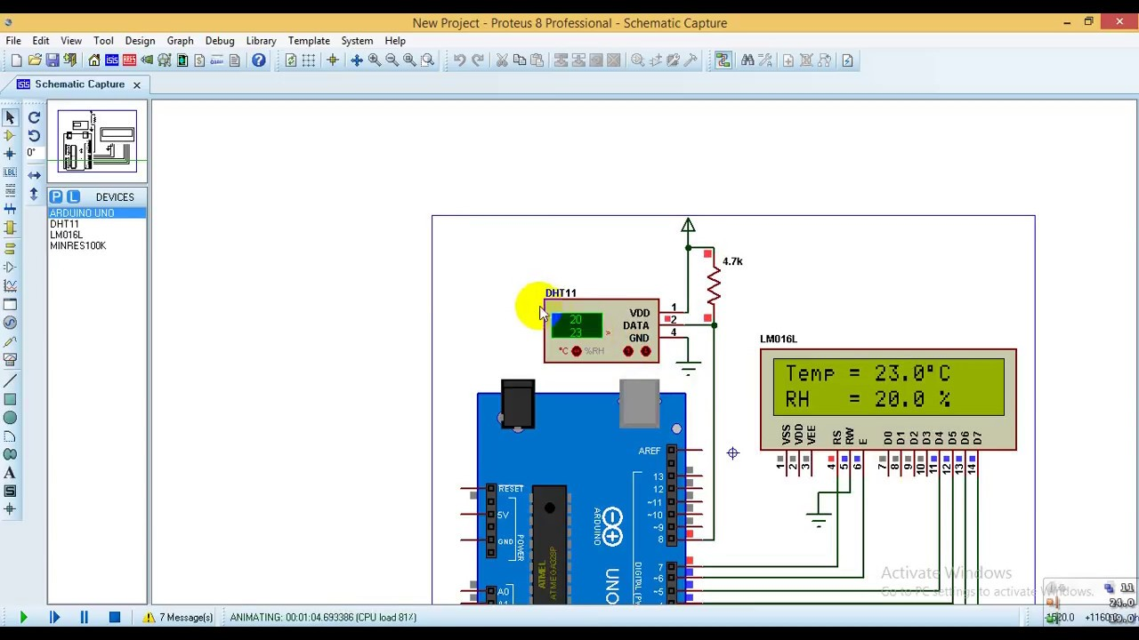 Arduino interfacing with DHT11 sensor and LCD - Simple Projects