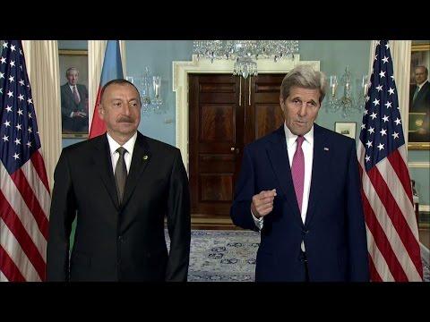 Secretary Kerry Meets with President Aliyev of Azerbaijan