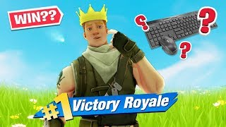 i tried to win a game of fortnite with keyboard and mouse on PS4