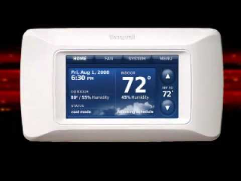 Honeywell Rth9580wf Youtube Animal Cell Diagram Cytoskeleton Install Thermostat Wiring Www Toyskids Co Prestige Hd Installation Video Digital Furnace