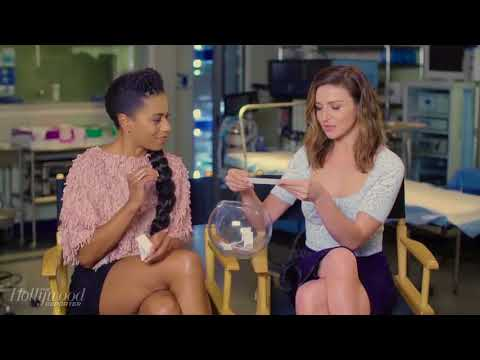 grey's anatomy cast answering questions - hollywood reporter