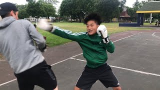 STRANGERS challenge BOXER  to street boxing (GONE WRONG)