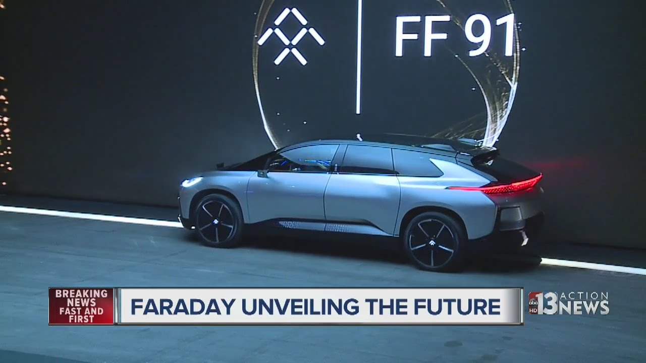faraday future unveils production car at ces - youtube