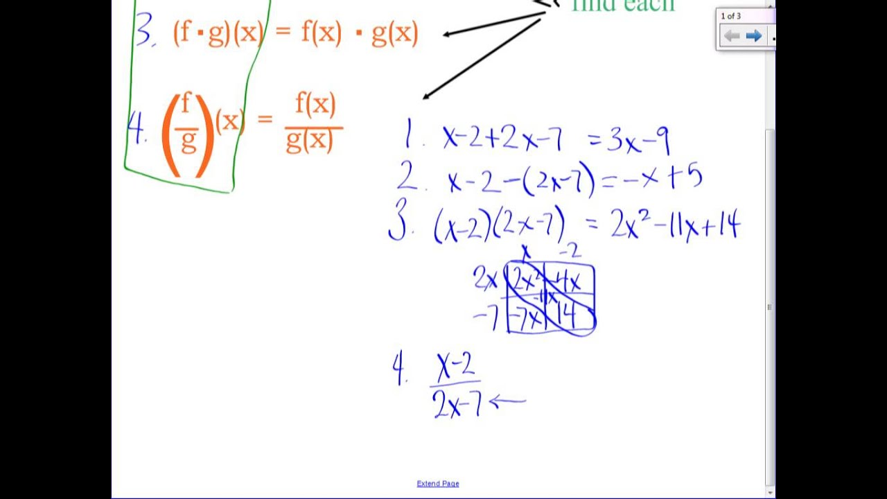 Algebra 2 Operations With Polynomials Worksheet Answers ...