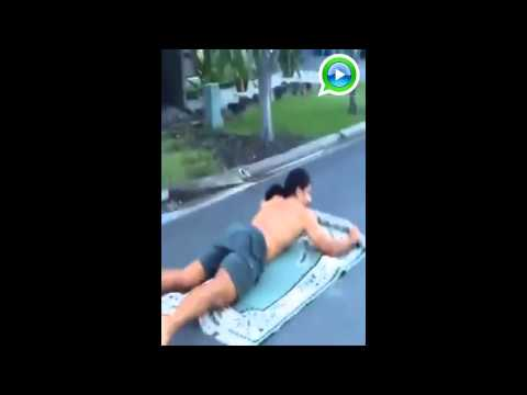 videos engraçados- Surf no tapete voador