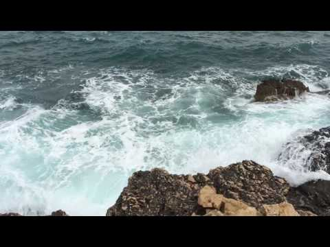 Best REal Nature Video And Sound Waves on the Rock ASMR Relaxing Natural video 2016