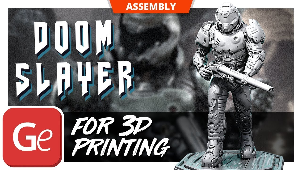 The Doom Slayer 3d Printing Figurine Assembly By Gambody Youtube