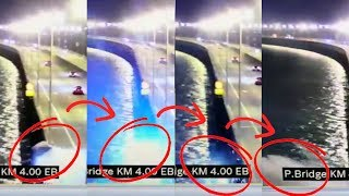 CCTV footage shows SUV plunging off Penang Bridge