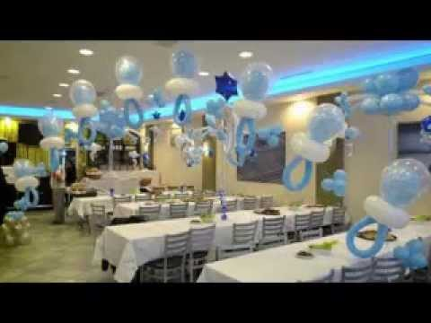 Diy Brown And Blue Baby Shower Decor Ideas Youtube