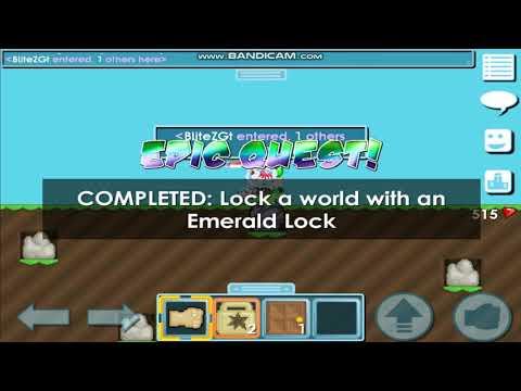 Growtopia | Cara Membuat Emerald Lock + Giveaway WL + Epic Quest