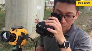 Camera nhiệt Fluke Ti480 + Tele lens 4X + ống ngắm chụp xa 200m