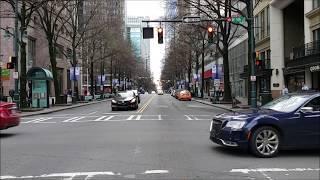 Driving in Uptown Charlotte, NC (New longer version)  | Charlotte Black Car Service