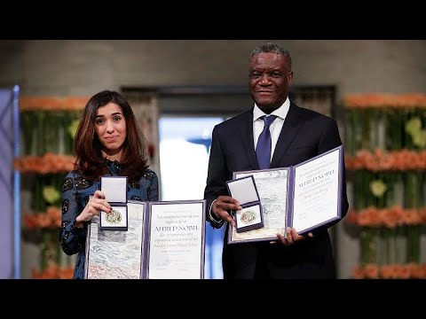 شاهد: لحظة تسلّم نادية مراد ودنيس مكويجي جائزة نوبل للسلام…  - نشر قبل 10 ساعة