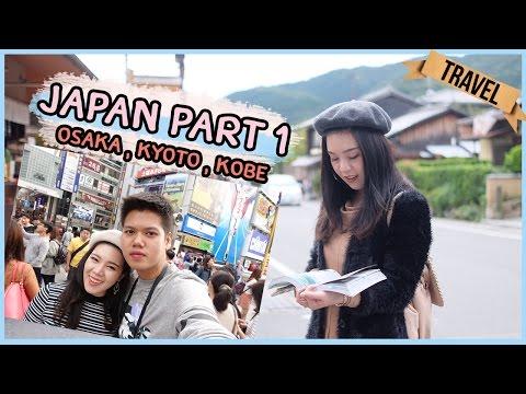 [VLOG] พาเที่ยวญี่ปุ่น Part1 Osaka,Kyoto,Kobe 2016║Evefee