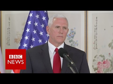 Thumbnail: Pence: US era of strategic patience with North Korea over - BBC News