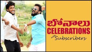 BONALU Celebrations with Subscribers | Pranks in Hyderabad 2019 | FunPataka