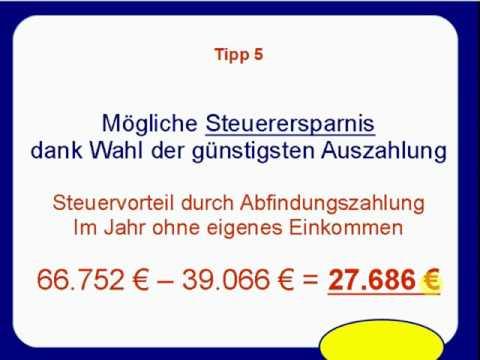 Tipp 5  Abfindung   Steuervorteil bei günstigstem Auszahlungszeitpunkt