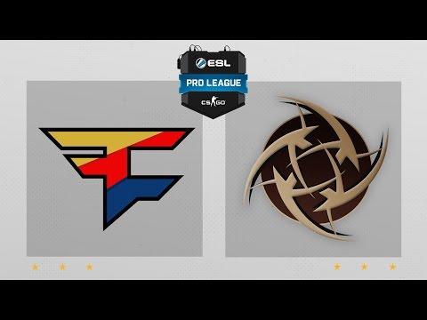 CS:GO - FaZe vs. NiP [Dust2] Map 1 - ESL Pro League Season 3 - EU Matchday 10