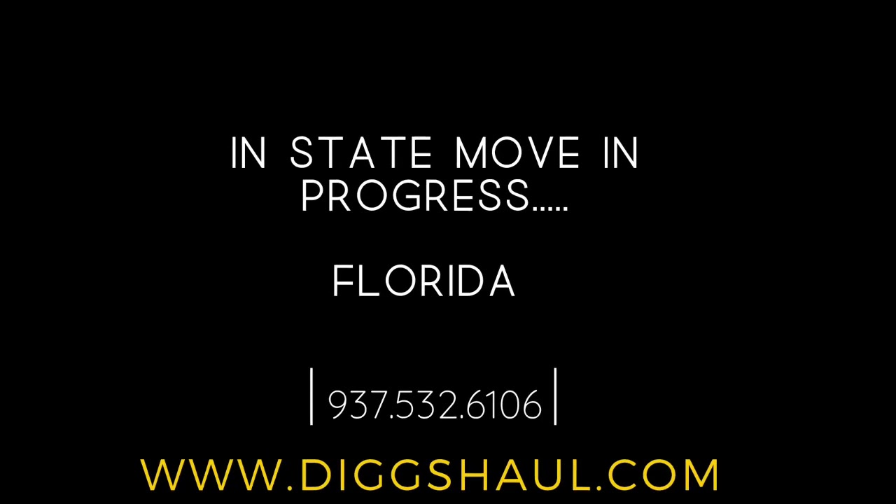 Moving across Florida - South Florida to Central Florida? - Same Day pickup & drop off !