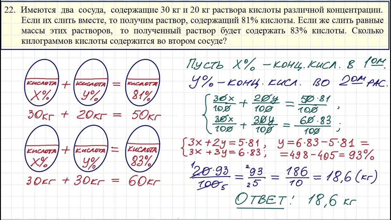 ОГЭ и ЕГЭ по математике (текстовая задача)