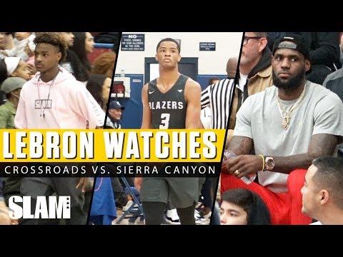 LeBron James Watches Crossroads vs. Sierra Canyon! 🔥