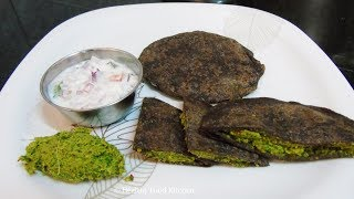 Healthy Breakfast Menu  3 - Diabetic Breakfast Menu - Weight Loss Recipe - Ragi Paratha Recipe