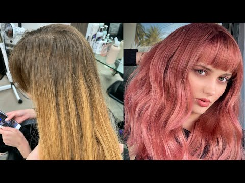 PERMANENT ROSE GOLD HAIR COLOR