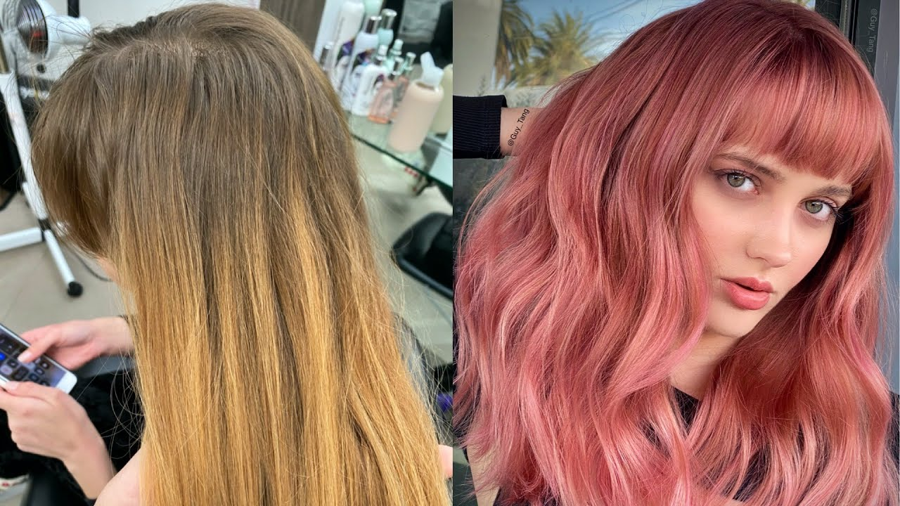 Permanent Rose Gold Hair Color Youtube