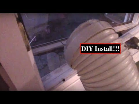 How to install Portable AC Unit into Casement windows!