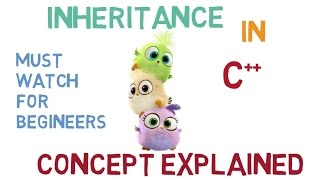 INHERITANCE IN C++ -38 (CONCEPT BEAUTIFULLY EXPLAINED)