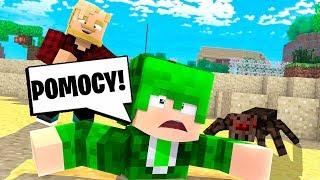 ZAKOPAŁEM GO SAMEGO NA PUSTYNI! l Minecraft BlockBurg