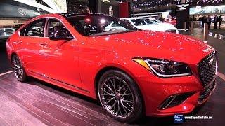 2018 genesis 3 3t. modren genesis 2018 genesis g80 sport 33t htrac  exterior and interior walkaround 2017  detroit auto throughout genesis 3 3t