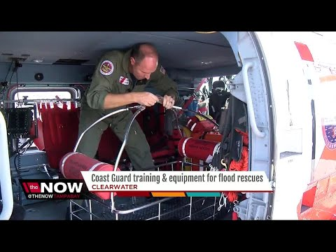 Coast Guard Training, Equipment For Flood Rescues