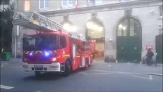 Pompiers de Paris Urgence feu ( archive 2009 2013 ) Paris Fire Dept responding fire Alert archive