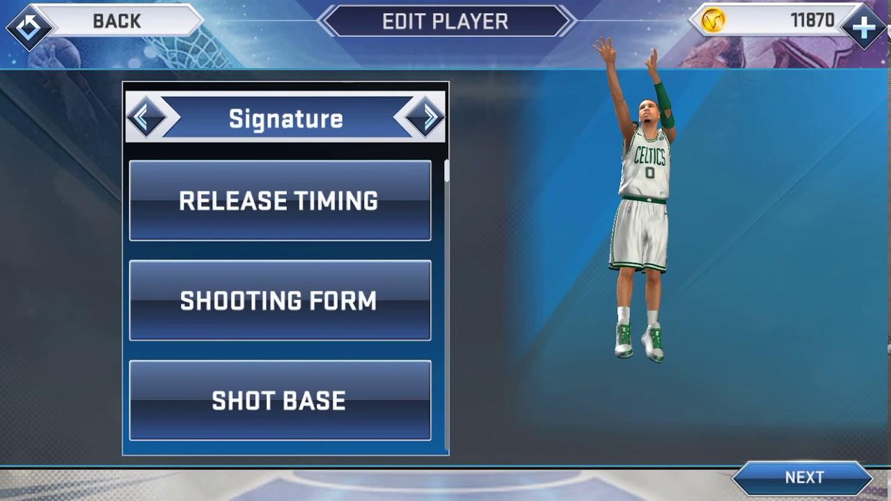 NBA 2K19 Mobile - Jayson Tatum Jumpshot fixed (with freethrow)