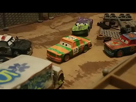 Disney pixar cars 3 high impact thunder hollow contestant 12 review youtube - Coloriage cars 3 thunder hollow ...