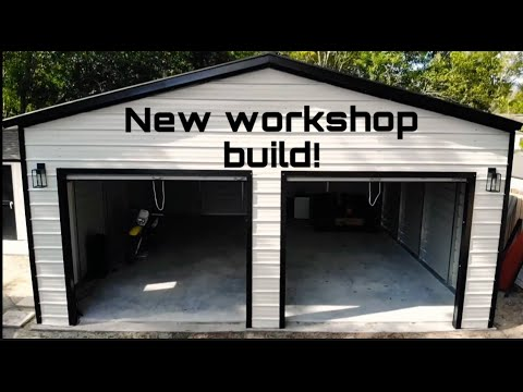 24 x 25' metal building, workshop, garage build installation