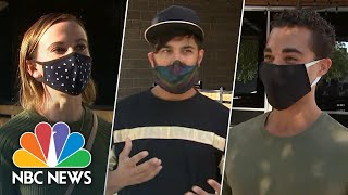 'Ironic' And 'Irresponsible': Las Vegas Voters React To Trump's Covid-19 Diagnosis   NBC News NOW