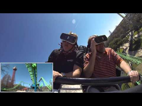 Marc & Doug check out THE NEW REVOLUTION VR coaster