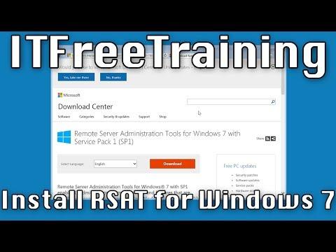 Installing RSAT on Windows 7 - YouTube