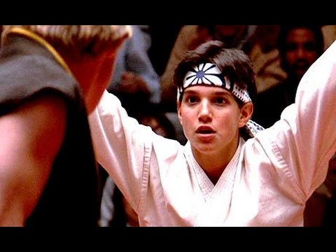 """Karate Kid"" (HD) -- Best scene -- 'Crane Kick'   (1984, original)"