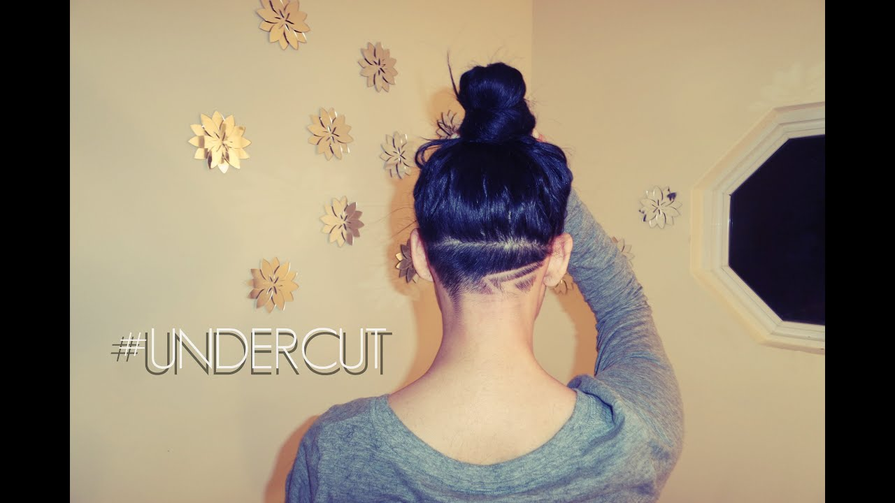 shaving my head!! new undercut haircut design